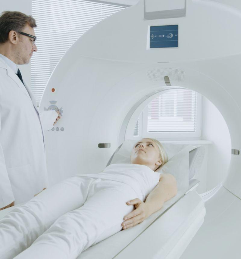 Base frame for MRI Linac scanner